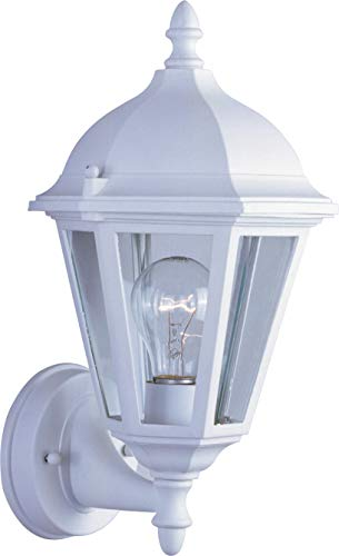 - Maxim Lighting 1002WT Mount Westlake Cast 1-Light Outdoor Wall Lantern, White