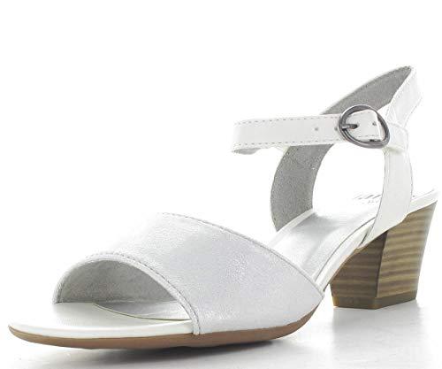 Cinturino Donna Jana 22 Caviglia Sandali Bianco 8 8 white 100 Alla Con Softline 28365 IqvrI0