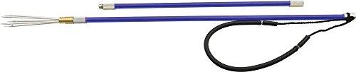 (Cressi Fiberglass Pole Spear, 2 pcs, Blue, 4 ft)