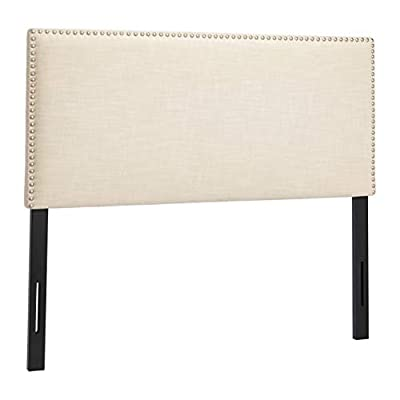 First Hill B-024 Upholstered Tufted Headboard, Full, Ivory