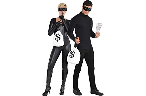 (AMSCAN Bank Robber Halloween Accessory Kit for Adults, 4)