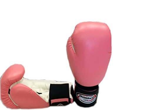 Woldorf USA Boxing Bag Gloves in Vinyl 10oz PINK by Woldorf USA