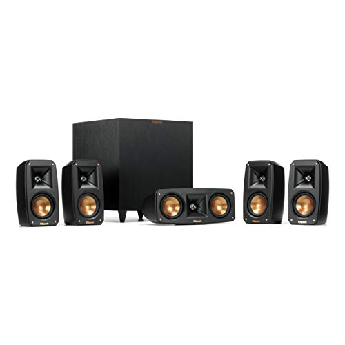 Klipsch Black Reference Theater Pack 5.1 Surround Sound System (Renewed) (Klipsch Audio Speakers)