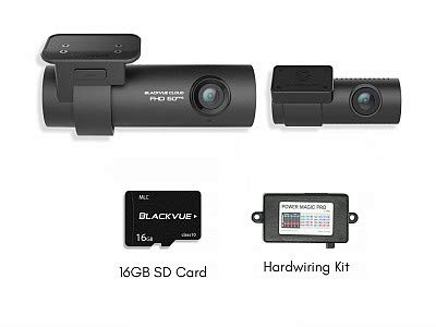 Blackvue DR750S-2CH Dash Cam 16GB Memory Card and hardwire k