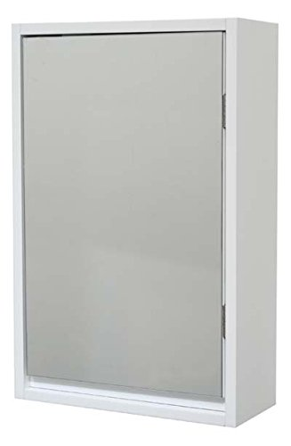EVIDECO 9907100 Wall Mounted Mirrored Medicine Cabinet Montreal White 1 Door,1 Shelf by EVIDECO