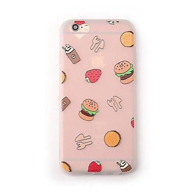 Fundas y estuches para teléfonos móviles, Caso para el iphone de la manzana 7 más la cubierta del caso 7 cubrió el tpu suave translúcido del alimento de la caja del teléfono de la ( Modelos Compatible IPhone 6s Plus/6 Plus