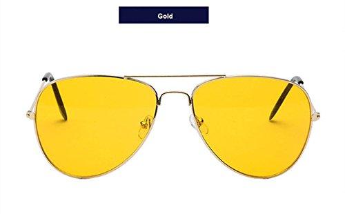 moda WeiMay de sol Gold de sol Gafas Classic Aviator verano Gafas y mujer Gafas polarizadas para hombre de de black PS7HnEPrqw