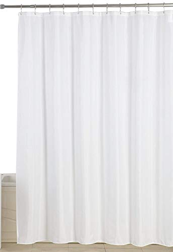 Utopia Home Water-Repellent Antibacterial and Mildew Resistant 72-Inch-by-72-Inch Fabric Shower Curtain - White by Utopia Home