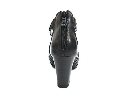 17590 NERO Scarpa donna sandalo tacco Nero Giardini pelle made in italy