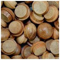 WIDGETCO 3/8' Mahogany Button Top Wood Plugs