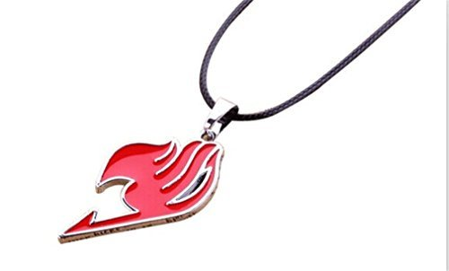 Fairy Tail Natsu Dragneel Guild Symbol Copper Metal Pendant Necklace (Red)