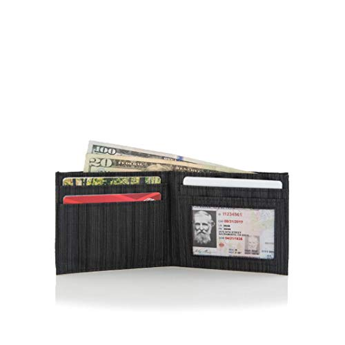 Allett Slim Nylon ID Wallet - Black
