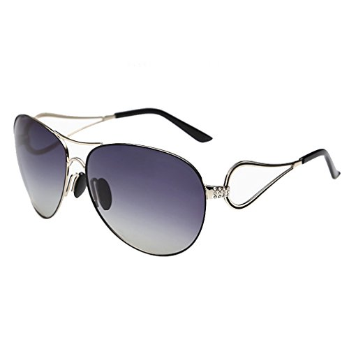 A-Royal Womens Fashion Elegant Gradient Lens Big Frame Polarized - Reduce How Do Polarized Glare Sunglasses