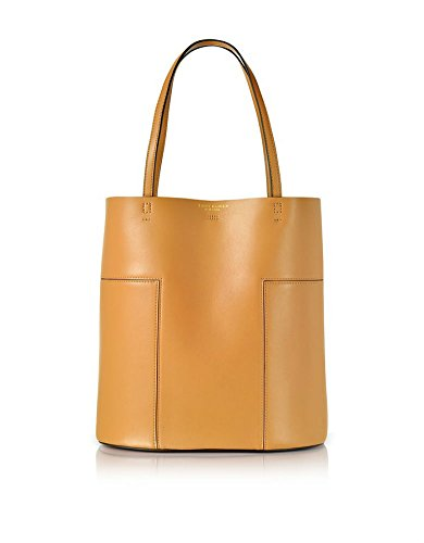 Tory Burch Block T Medium Leather Tote (Aged - Brown Bag Burch Tory