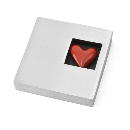 - Vilmain Red Heart Pewter Paperweight