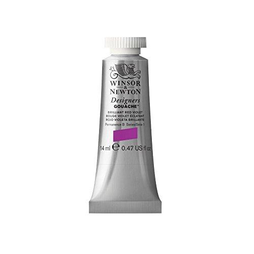 Designers' Gouache Paint Tube (Set of 3) Capacity: 14ml, Color: Brilliant Red Violet (Winsor & Newton Designers Gouache)