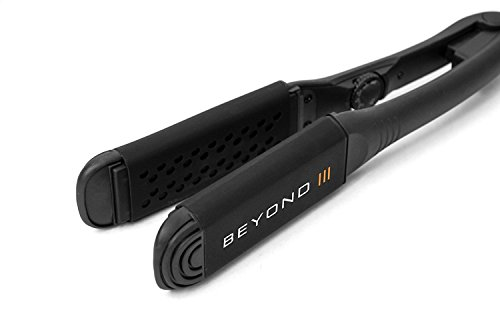 Beyond Styling Iron by LIFE – Next Gen Pro Ionic Charcoal Plates with Silicone Sleeves – Wet to Dry – Clean, Condition Hair While You Style
