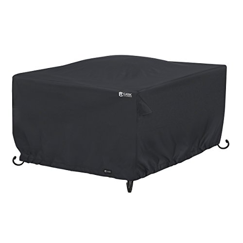 Classic Accessories 55-557-010401-00 Square Fire Table Cover, Black