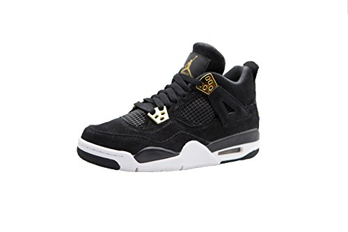 Jordan Big Kids Air Jordan IV Retro (GS) (black / metallic gold-white) Size 5.0 US
