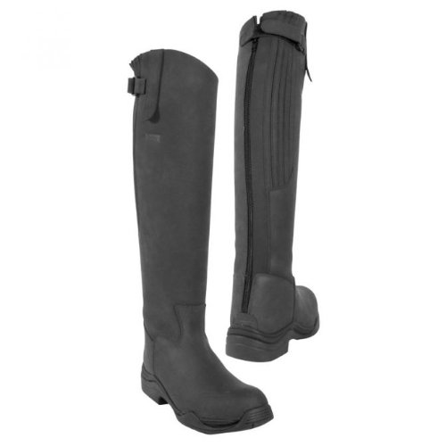 Boot Leather Calgary With Zip Long Riding EU Full Standard Black Size Fitting 42 In 8 Leg Toggi qdXIwEw