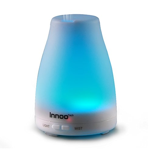 Amazon Lightning Deal 93% claimed: Innoo Tech Essential Oil Diffuser | 100ml 3rd Version Cool Mist Aromatherapy Humidifier with Adjustable Mist Mode Waterless Auto Shut-off | 7 Changing Color LED Lights with Aroma eBooks