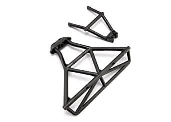 Traxxas 6836 Rear Bumper, Bumper Mount (black)