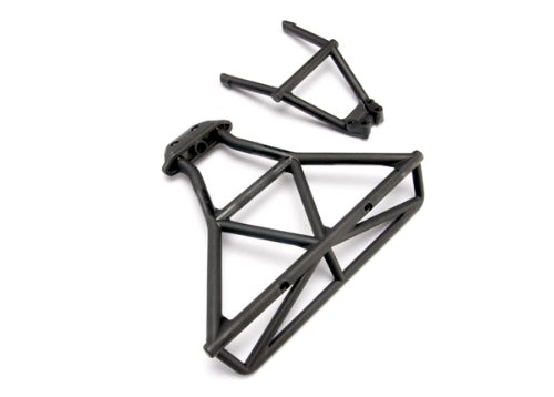 Traxxas 6836 Rear Bumper, Bumper Mount (black) (Mount Bumper Rear)