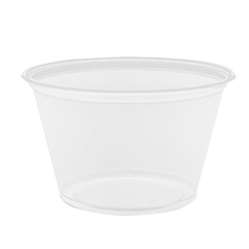 Conex Complement Portion Cup - 4 Ounce, Clear, Polypropylene, Use Lid 400Pcl, 125 Per Bag -- 2500 Per Case.