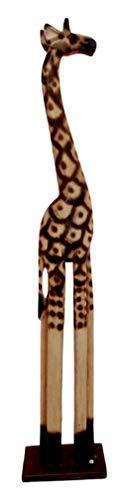 Ky & Co YK Balikraft Balinese Wood Handicraft Large Safari Giraffe Animal Figurine 39.75