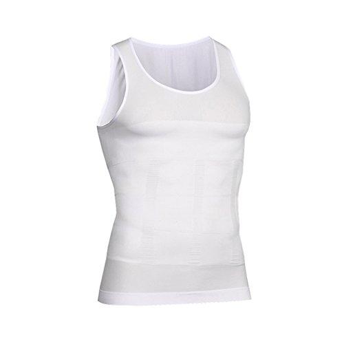 HOTER Mens Body Shaper Slimming Vest, Men's Elastic Sculpting Vest Thermal Compression Base Layer Slim Compression Muscle Tank (Compression Elastic)