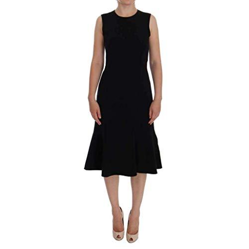 Dolce & Gabbana Black Wool Stretch Shift Dress