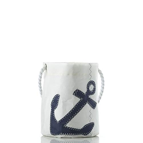 Sea Bags Recycled Sail Cloth Anchor Bucket Bag Navy made in Maine