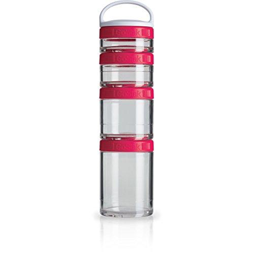 BlenderBottle GoStak Twist n' Lock Storage Jars, 4-Piece Sta
