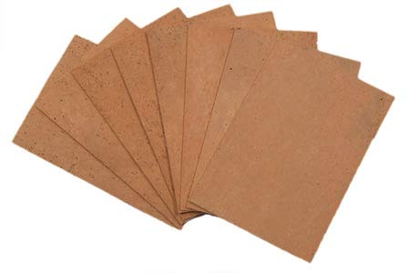 """MUSICMEDIC.COM NATURAL SHEET CORK - SHEETS - 6"""" X 4"""" (152.4MM X 101.6MM) - SHEETS for INSTRUMENT REPAIR. HIGHEST QUALITY (1/16"""" (1.59mm) thickness)"""