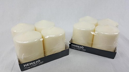 Large Product Image of IKEA Hemsjo Candles - White Pillar - 4 Pack [2 Sets For Total of 8 Candles]