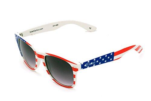 Soleil LOGAN (American Flag Frame, Gradient Tinted - Tinting Sunglasses