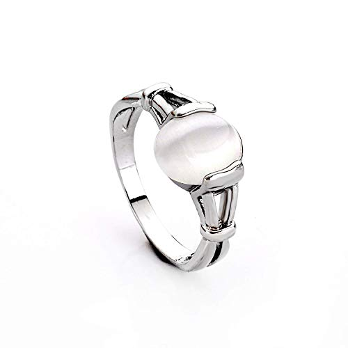 LUREME Fashion Alloy Twilight Saga Bella Natural Cateye Stone Women's Ring-U (04001479-5) ()