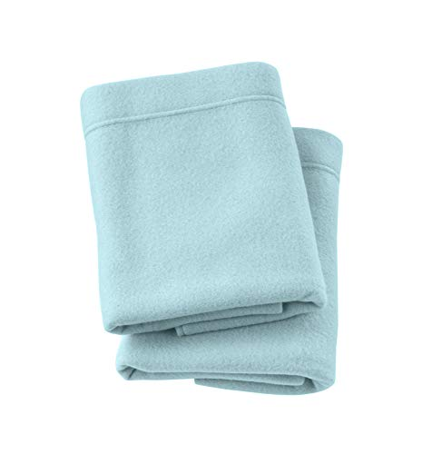 Home Fashion Designs Maya Collection Super Soft Extra Plush Polar Fleece Pillowcases. Cozy, Warm, Durable, Smooth, Breathable Winter Pillowcases in Solid Colors. (Standard, Cloud Blue)