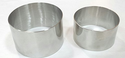 Plating/forming Stainless Steel Ring Mold (2 Pieces) by Sunrise Kitchen Supply
