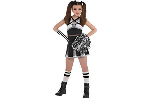 Amscan 848087 Girls Ra Rebel Cheerleader Costume, Large (12-14), Black -