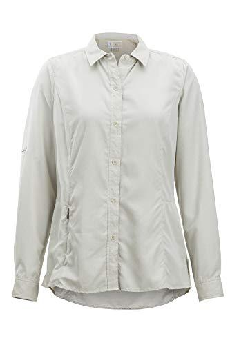 ExOfficio Women's BugsAway Brisa LS Shirt, Light Stone, Large