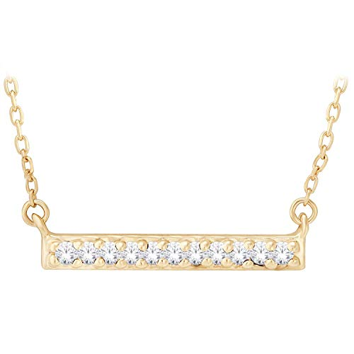 .04 ct. tw. Diamond Pavà Bar Fashion Pendant in 10K Yellow Gold - M297610Y