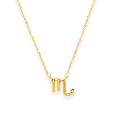 Sterling Forever (Scorpio) Women?s Zodiac Necklace - Zodiac Sign Necklace, Gold Plated (Scorpio)