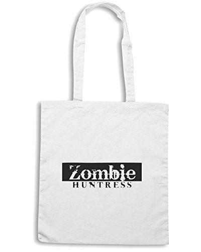 T-Shirtshock - Bolsa para la compra TZOM0014 zombie huntress Blanco