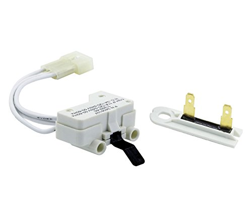 Siwdoy 3406107 Dryer Door Switch and 3392519 Dryer Thermal Fuse Compatible with Whirlpool Dryer 3405100, 3405101, 3406100, 3406101, 3406109, WP3392519 ()