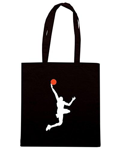 T-Shirtshock - Bolsa para la compra OLDENG00399 basketball (9) Negro