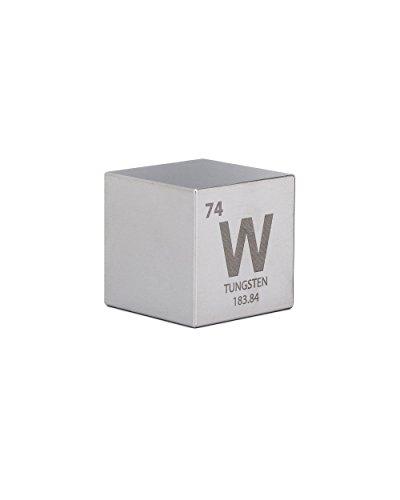 [해외]텅스텐 1.5 원 킬로 큐브 - 각인 주기율표 기호 / Tungsten 1.5 One Kilo Cube - Engraved Periodic Table Symbol
