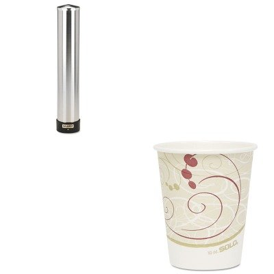KITSJMC3400PSLO370SMSYM - Value Kit - Solo Hot Cups (SLO370SMSYM) and San Jamar Large Water Cup Dispenser w/Removable Cap (SJMC3400P) by Solo