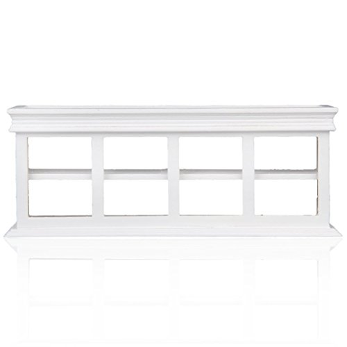 Gold Wing 1:12 Dollhouse Miniature Food Cake Display Cabinet Counter White ()