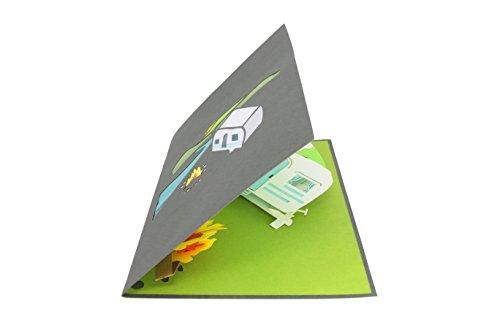31 0mcvAfiL PopLife Cards Camping-Ausflug Pop-up-Karte - alle Gelegenheiten